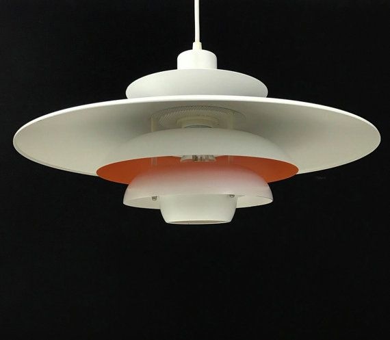 Classic danish ceiling light by jeka model sofie the light consists of white lacquered shades