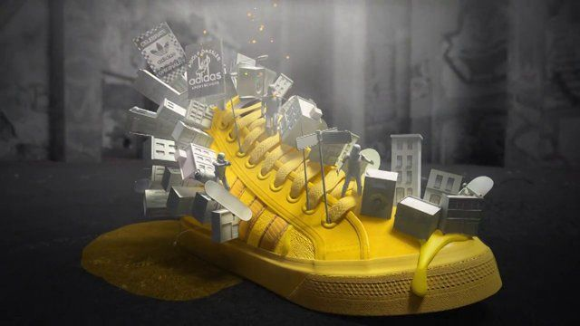 adidas Originals has created a virtual 3D world, the adidas Originals Neighborhood, that will expand out of a real-world collection of sneakers. Frame did this spot to showcase these shoes. Frame did the modeling, lighting, shading and animation of all 5 shoes in 3D.