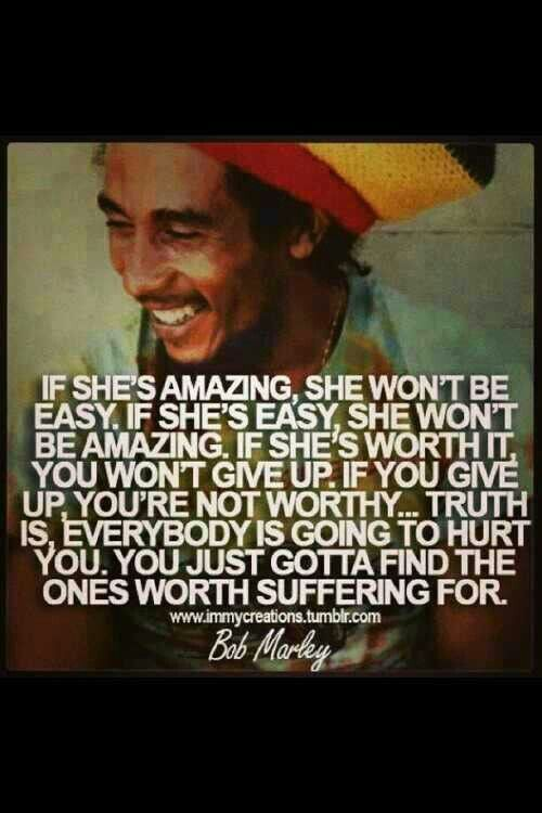 Love advice for men from Bob Marley and he's not taking about ready to get I'm bed