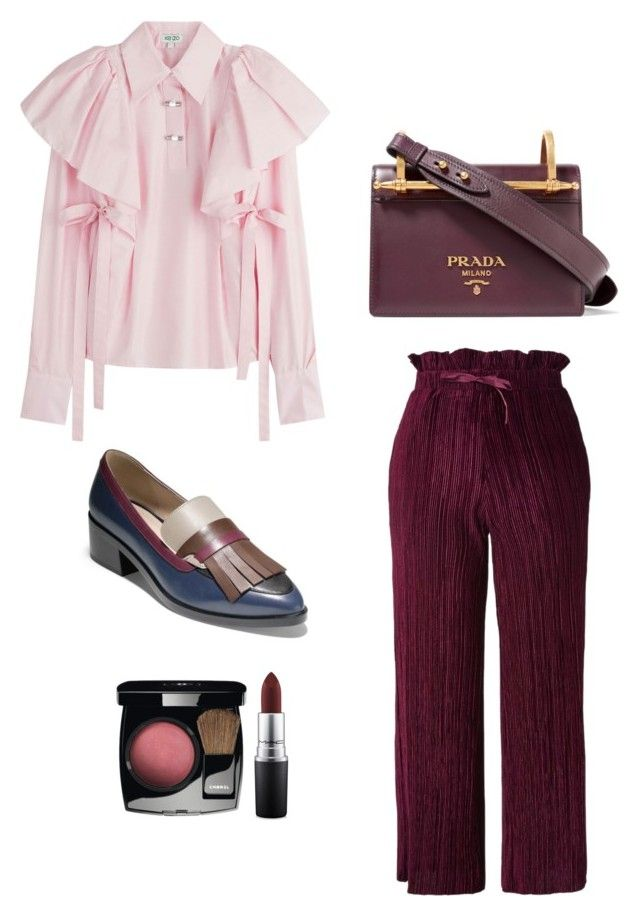 """""""Get Ready In 15 Minutes"""" by oheytita on Polyvore featuring Topshop, Kenzo, Cole Haan, Prada and MAC Cosmetics"""