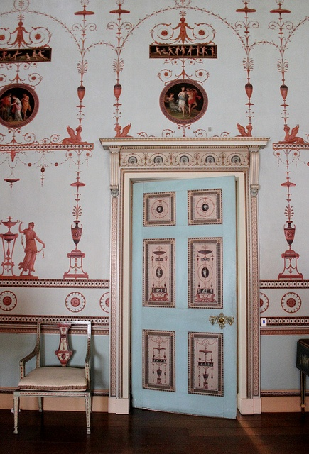 The Etruscan Room: Osterley Park House by Robert Adam. This is one of Adam's most influential rooms.