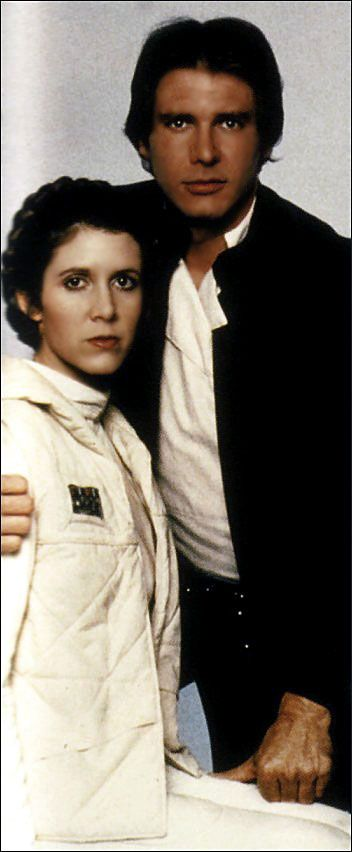 *HAN SOLO (Harrison Ford) & PRINCE LIEA ORGANA (Carrie Fisher) ~ STAR WARS: