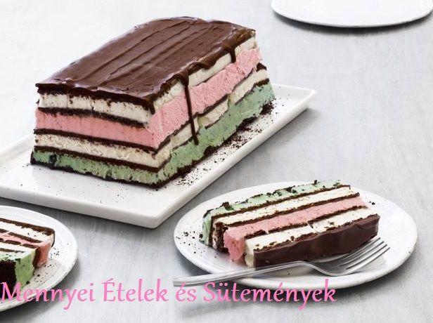 Hőség ellen-jégkrém szendvics torta! :)