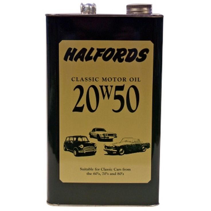 Halfords classic 20w50 motor oil this is green in colour for Classic motor oil 20w50