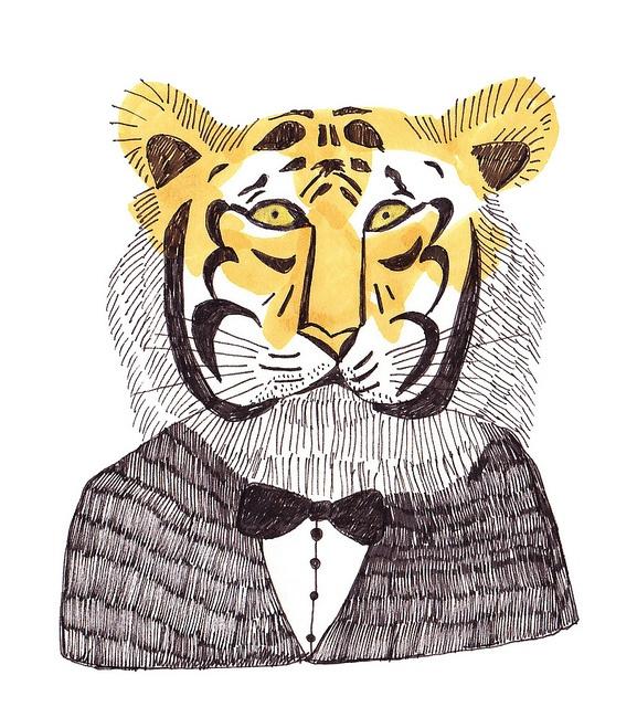 by stephanie kwak, via Flickr mr.tiger illustration
