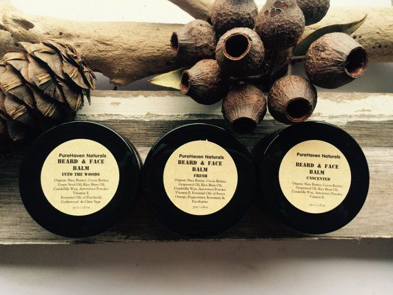 Beard & Face Balm. Men's Skin Care. by PureHavenNaturals on Etsy