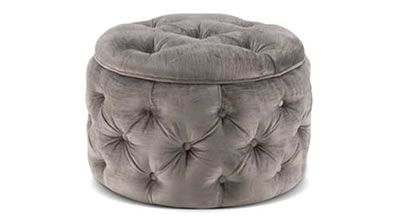 deep buttoned ottoman by David Shaw