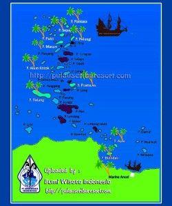 Peta Kepulauan Seribu Indonesia, Jakarta | Thousand Islands Map #pulauseribu #petapulauseribu