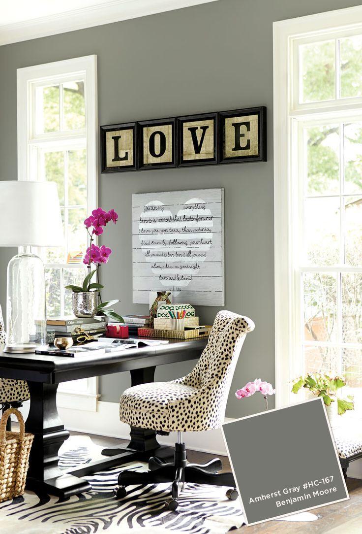 Home Office With Ballard Designs Furnishings Benjamin: Best 25+ Office Paint Ideas On Pinterest