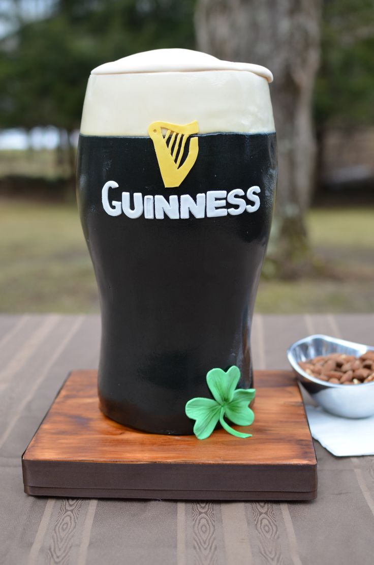 Pint of Guinness cake for St. Patrick's Day. Chocolate stout cake with Bailey's buttercream.