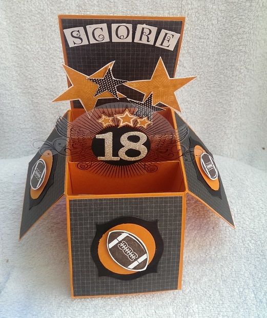 Made for an 18th for a a footy mad boy who's team colours are Black, Orange and White.
