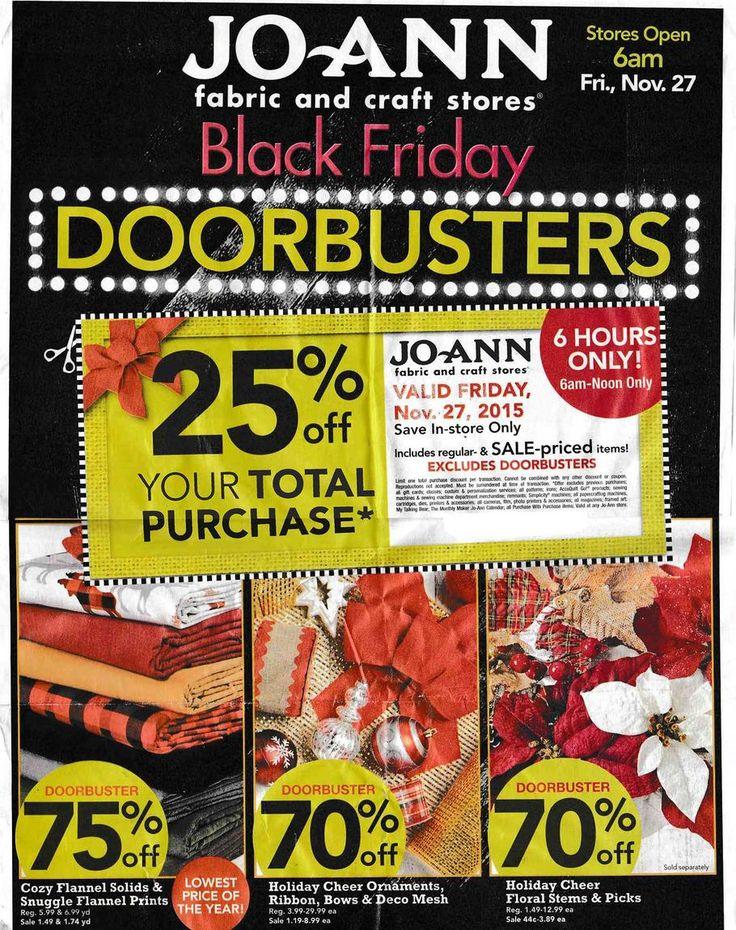 Joann Black Friday Deals 2015 Ad & Sale