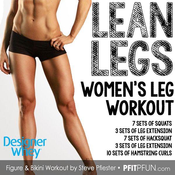 Lean Legs Women's Workout: 4 Exercises, 30 Sets, 400 Reps