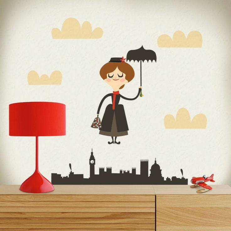 """Vinilo infantil """"Mary Poppins"""""""