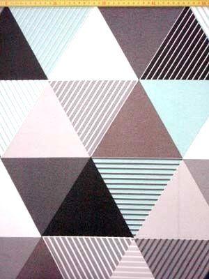 B 1915 Bedrukt canvas triangel mint