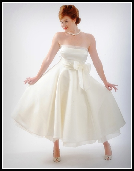 vintage tea length wedding dresses