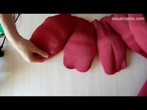 (8) СУПЕР большие цветы из бумаги. Розы (часть I) - YouTube
