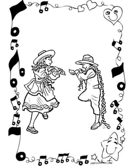 Danza Folklorica Colouring Pages Mini Selva Peruana Danzas De
