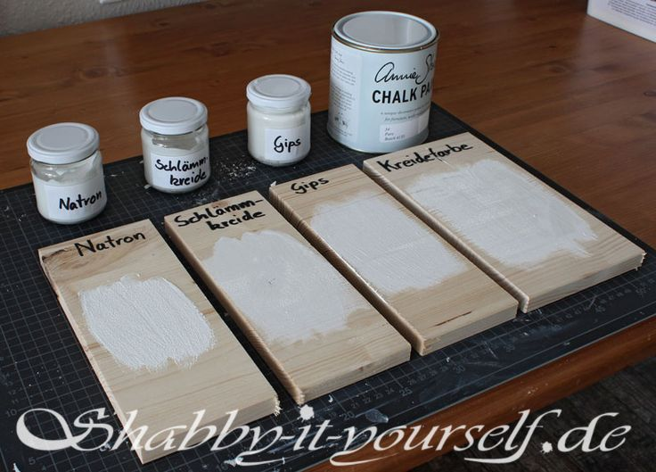Kreidefarbe selber herstellen – Der Test | Shabby-It-Yourself.de
