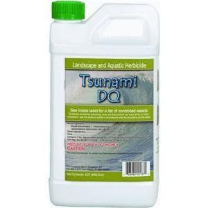 Sanco Industries 00137 Tsunami DQ - Pond Weed Control by Sanco Industries. $49.00. 32 oz. Diquat based weed control. Controls Duckweed. Aquatic herbicide. A nonselective herbicide for both submerged and floating pond weeds. Effective in controlling duckweed, water hyacinth, pondweed, slender leaf pond weed, coontail, and other aquatic weeds. Can be blended with other herbicides for many uses. Tsunami DQ is a diquant dibromide based herbicide. Diquat formula kil...