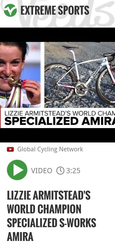 Lizzie Armitstead's World Champion Specialized S-Works Amira | #specialized #globalcyclingnetwork | http://veeds.com/i/kje9p1jNPEd4udKJ/extreme/