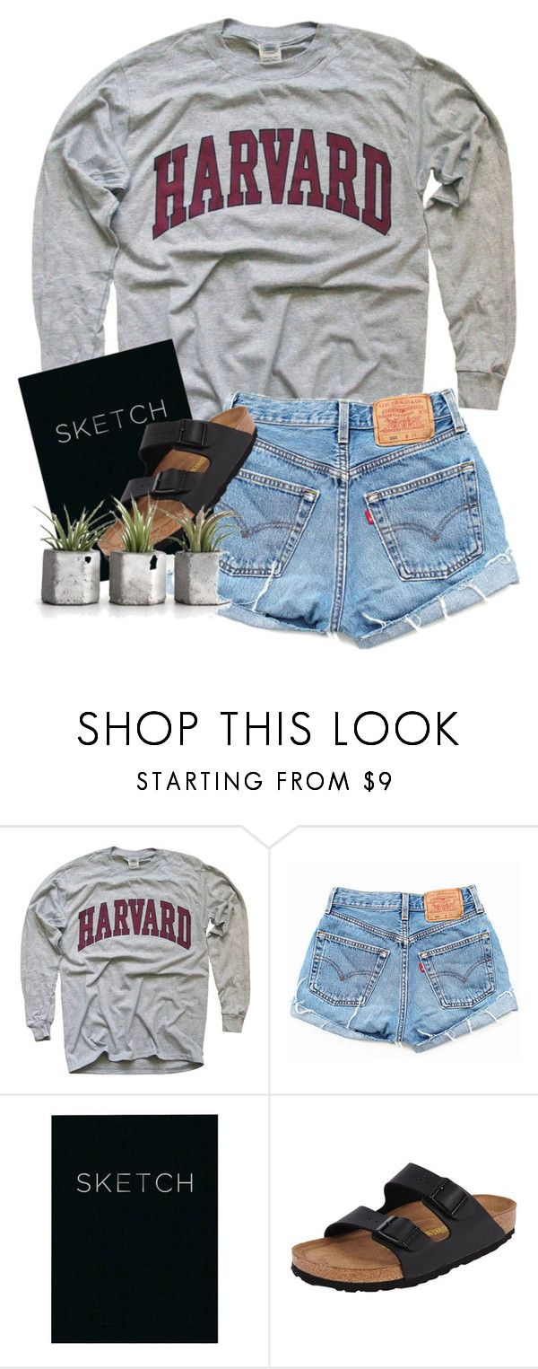 """""""finished"""" by cait926 ❤ liked on Polyvore featuring Levi's, Piccadilly and Birkenstock"""