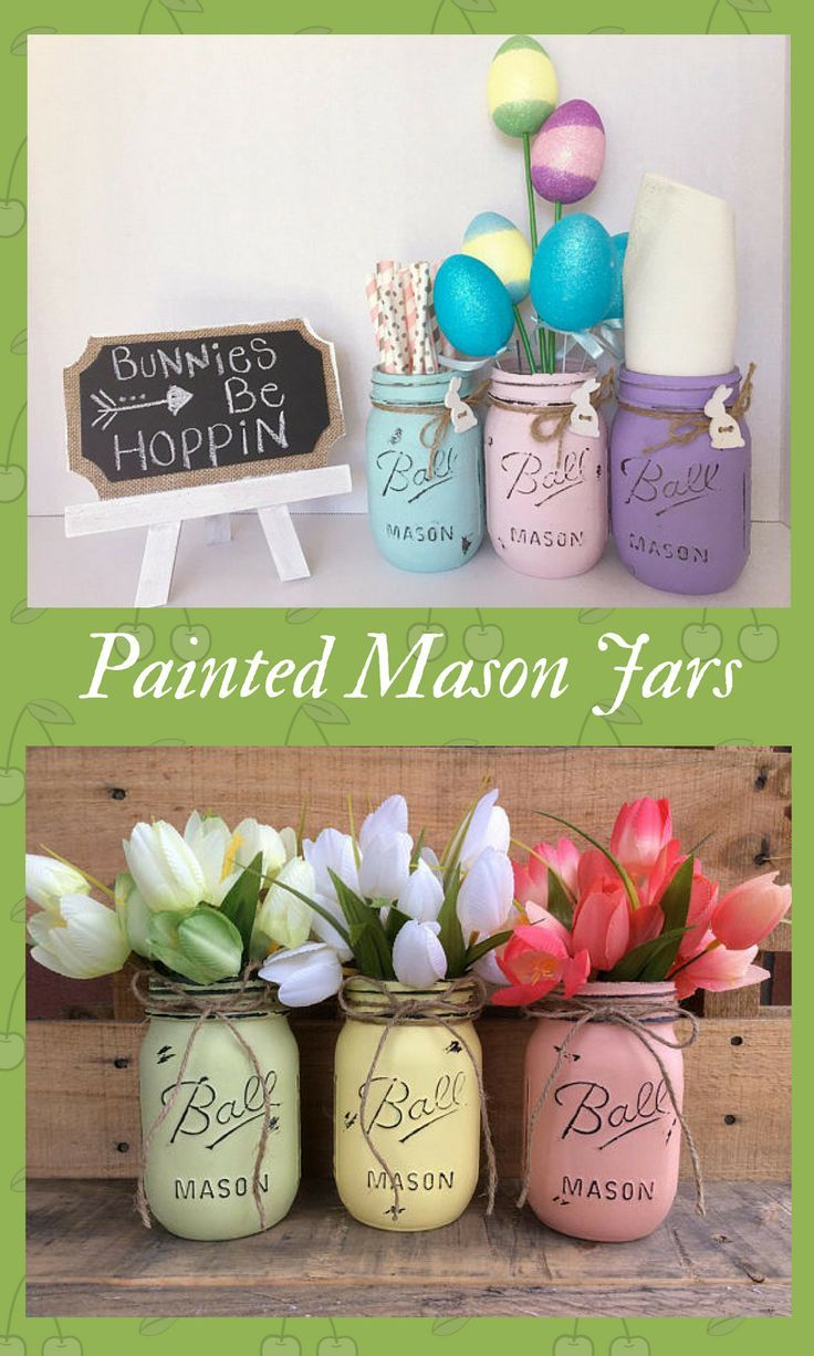 best easter images on pinterest jars centerpieces and color