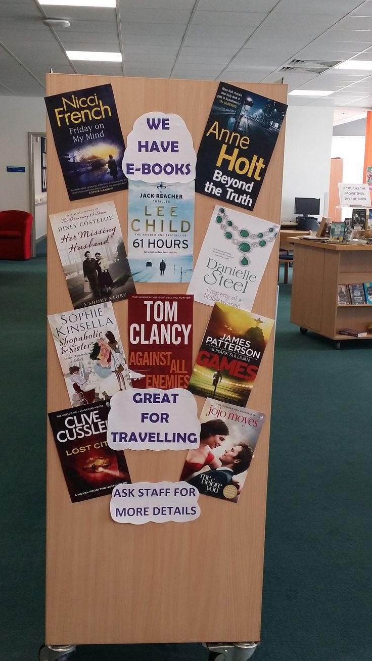 A display to promote Doncaster Libraries e-books and digital library services by the lovely  Denise at Thorne Library :)
