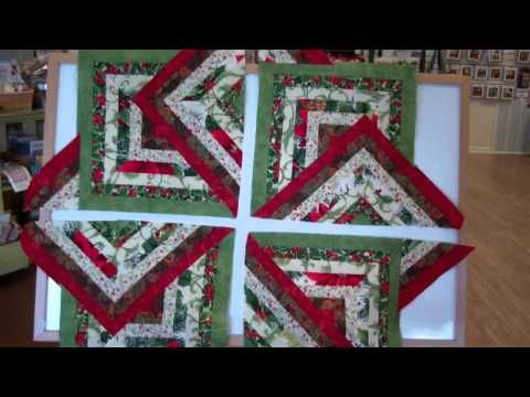 "Sew Easy Strata Star - YouTube...They really are easy to do. The one I did was 1 1/2"" strips of 8 different fabrics. the strips are sewn into sets and cut 11 3/4"" for large triangle and 7 1/2"" for small triangle."