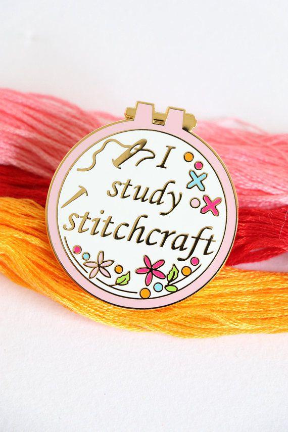 sewing enamel pin crafty enamel pin hard enamel pin enamel