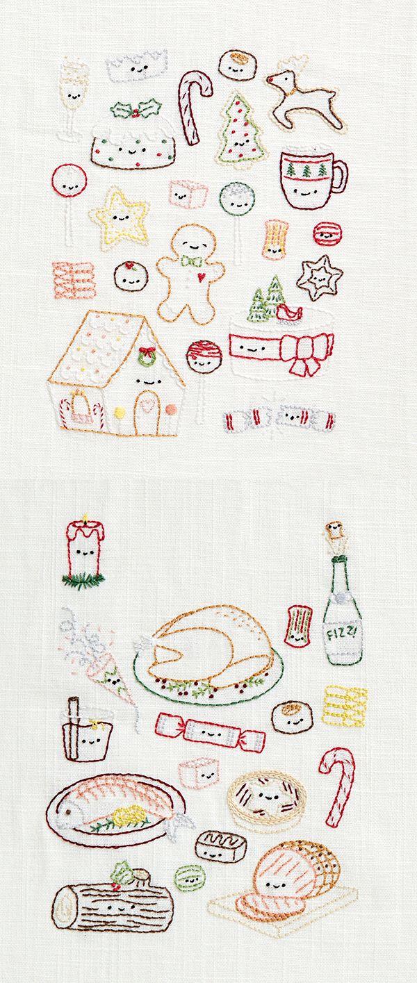 Christmas kawaii embroidery patterns   Mollie Makes 60