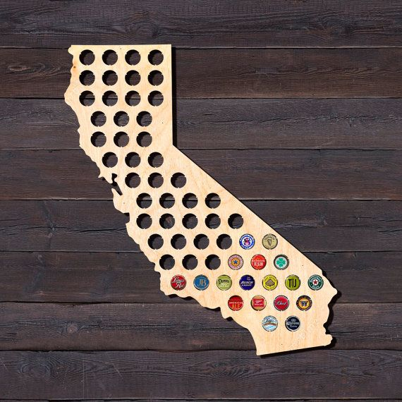 Beer Cap Map is very original and good gift for beer lovers, beer aficionado, beer drinkers. Its irreplaceable thing for beer caps collectors or