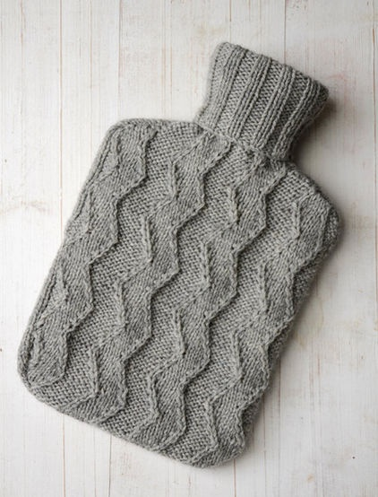 knitted hot water bottle cozy sewing, crafting, knitting ...
