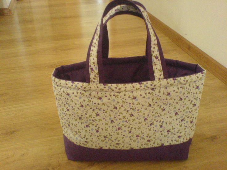 Textil táska osztott - NAGY