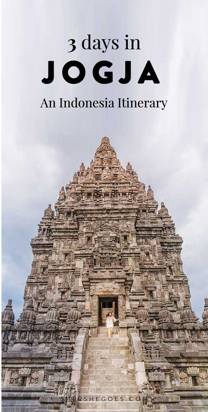 A Yogyakarta travel guide featuring a day by day itinerary for all the best sights - Borobudur Temple, Prambanan, Batik and more!