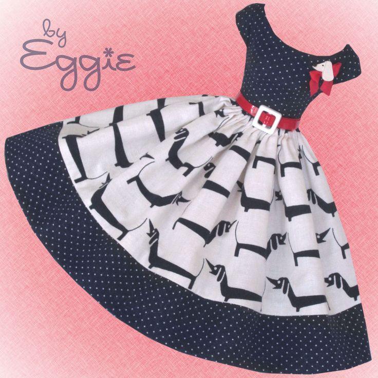 Bow Wow - Vintage Barbie Doll Dress Reproduction Repro Barbie Clothes