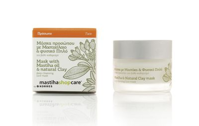 Mask with Mastiha oil & Natural Clay mask deep-cleansing face mask 40ml e 1.35 fl.oz. Contains -Mastiha Oil: Offers antimicrobial and healing properties. -Kaolin: A natural clay with significant sebum-absorbing properties. -Jojoba oil: Enhances suppleness and refreshes dull and tired-looking skin. - See more at: http://www.greekpharma.com/shop/face-mask-mastiha-oil-natural-clay-40ml/#sthash.h4M4ZF4B.dpuf