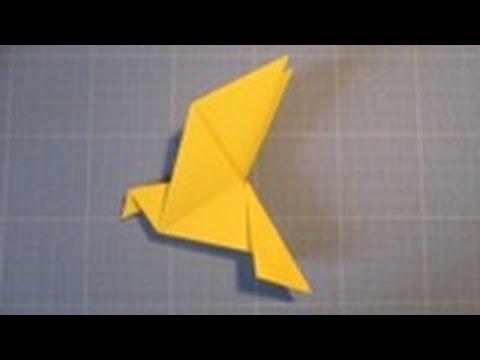 Comment réaliser une colombe en papier (origami) - YouTube