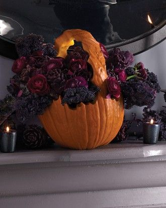 """See the """"Pumpkin Basket Centerpiece"""" in our Halloween Centerpieces and Tabletop Ideas  gallery"""