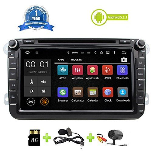 Car Stereo Touch Screen Bluetooth GPS DVD Double Din In Dash Sat Navigation Vehicle Head Unit for VW Volkswagen Jetta Golf Passat Tiguan T5 VW Skoda Seat Hands Free Call Free Map Backup Camera  Applicable Car Models and Years : BORA (2006-2015) CADDY(2003-2015) EOS (2006-2015) GOLF (2007-2012) JETTA (2006-2015) MAGOTAN (2006-2012) PASSAT (2006-2013) SAGITAR (2005-2015) TIGUAN (2007-2015) TOURAN (2003-2013) ALTEA (2004-2013) LEON (2004-2012) TOLEDO (2012-2013) FABIA (2004-2013) Amarok..