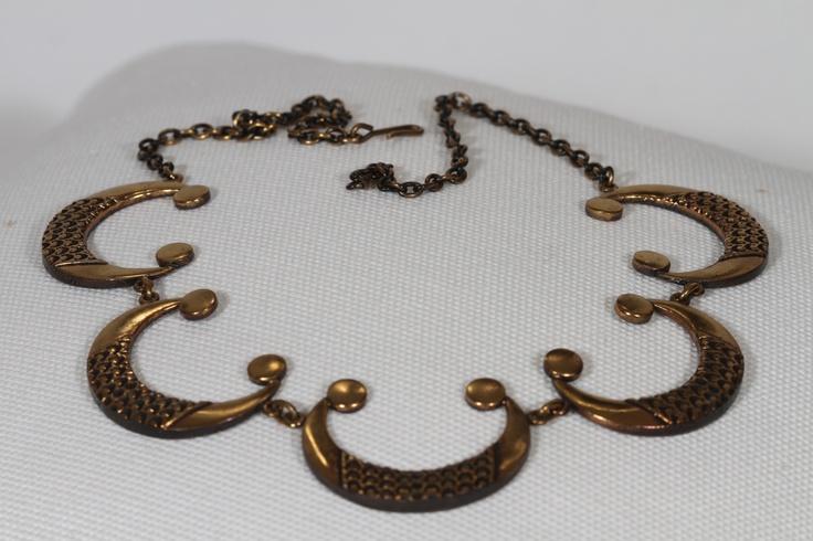 vintage pentti sarpaneva bronze necklace