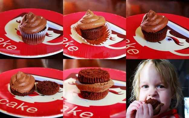 How to eat a cupcake the right way: