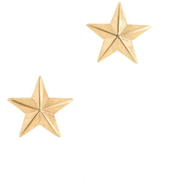 J.Crew Brass star earrings (26 AUD) ❤ liked on Polyvore featuring jewelry, earrings, accessories, brincos, gold, earrings jewelry, j crew earrings, brass earrings, star jewelry and gold stud earrings