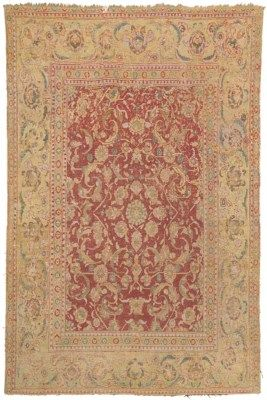 CAIRENE RUG  OTTOMAN EGYPT, SECOND HALF 16TH CENTURY   7ft.2in. x 4ft.9in. (218cm. x 145cm.)  I Christie's Sale 7219