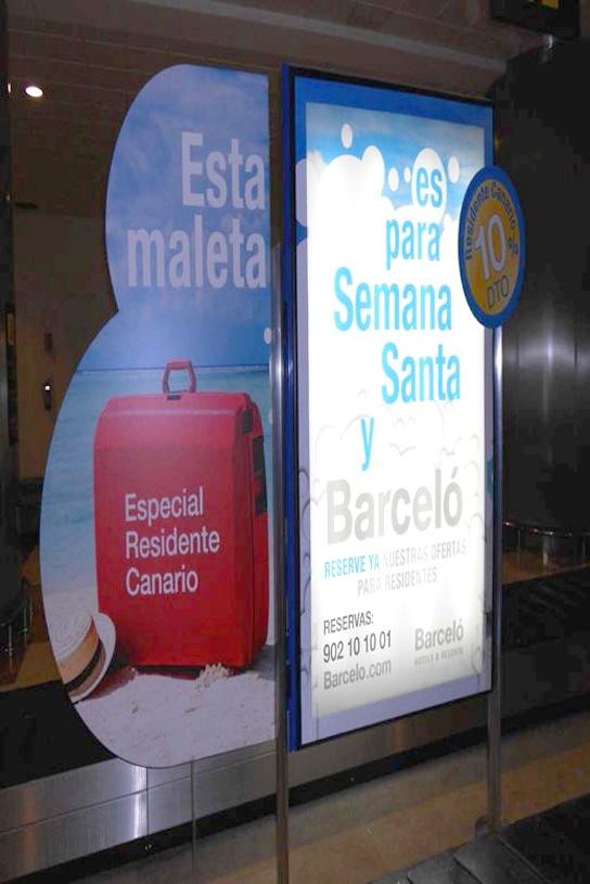 Entrecinta temática en Sala de llegadas Regionales del Aeropuerto de #GranCanaria. Barceló anuncia las ofertas especiales para Residentes de Semana Santa