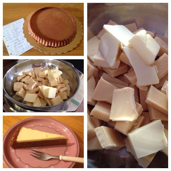 Torta ovetto Kinder ® |  | Pan di spagna al cacao e ganache al cioccolato bianco