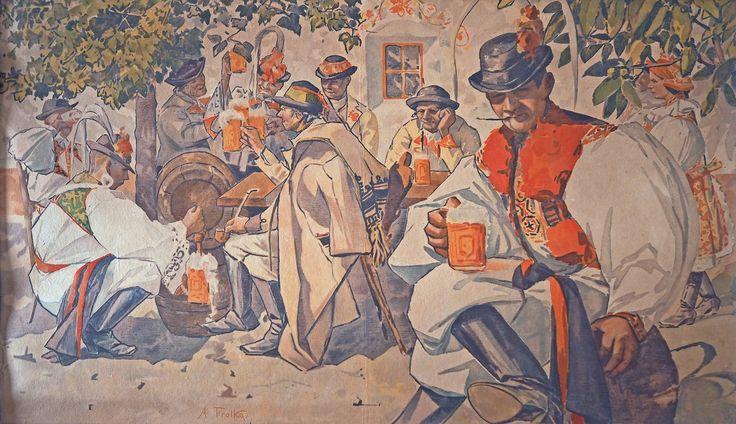 Antoš Frolka: Pijáci piva, počátek 20. století