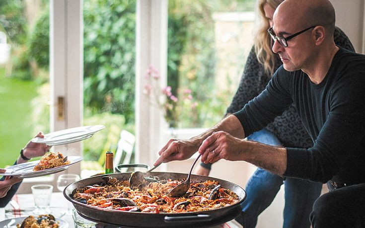With clams, shrimps and mussels mixed with saffron and paprika, this paella   recipe - fresh from Stanley Tucci himself - is the key to the perfect paella
