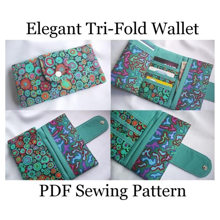 Elegant Tri-Fold Wallet Sewing Pattern - Susie D Designs