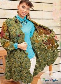 Шикарное пальто из ирландского кружева.